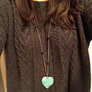 Jewelry - Turquoise heart necklace